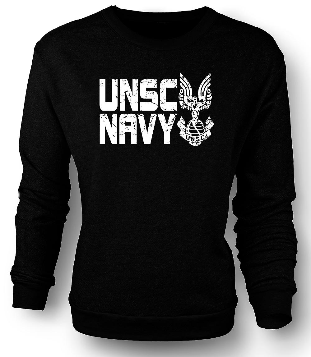 Mens Sweatshirt UNSC Navy Logo - Gamer