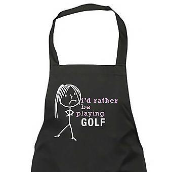 السيدات أنا بدلاً من أن يلعب الغولف المئزر