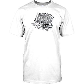 Maserati Grand Prix motor - Retro Design barn T Shirt