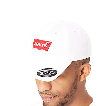 Levis Regular White Big Batwing Curved Peak Flexfit Cap