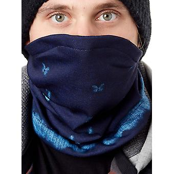 DC Dark Blue Mud Cloth B Thief Womens Snowboard Neck Warmer