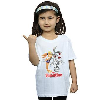 Looney Tunes Girls Bugs Bunny And Lola Valentine's Day T-Shirt