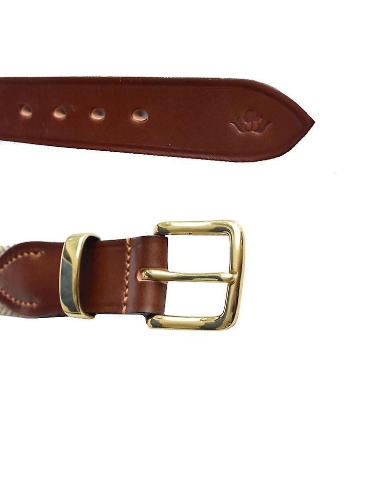 Beige braided belt