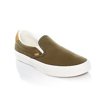 Vans Flannel Dusty Olive Classic 59 Slip On Shoe