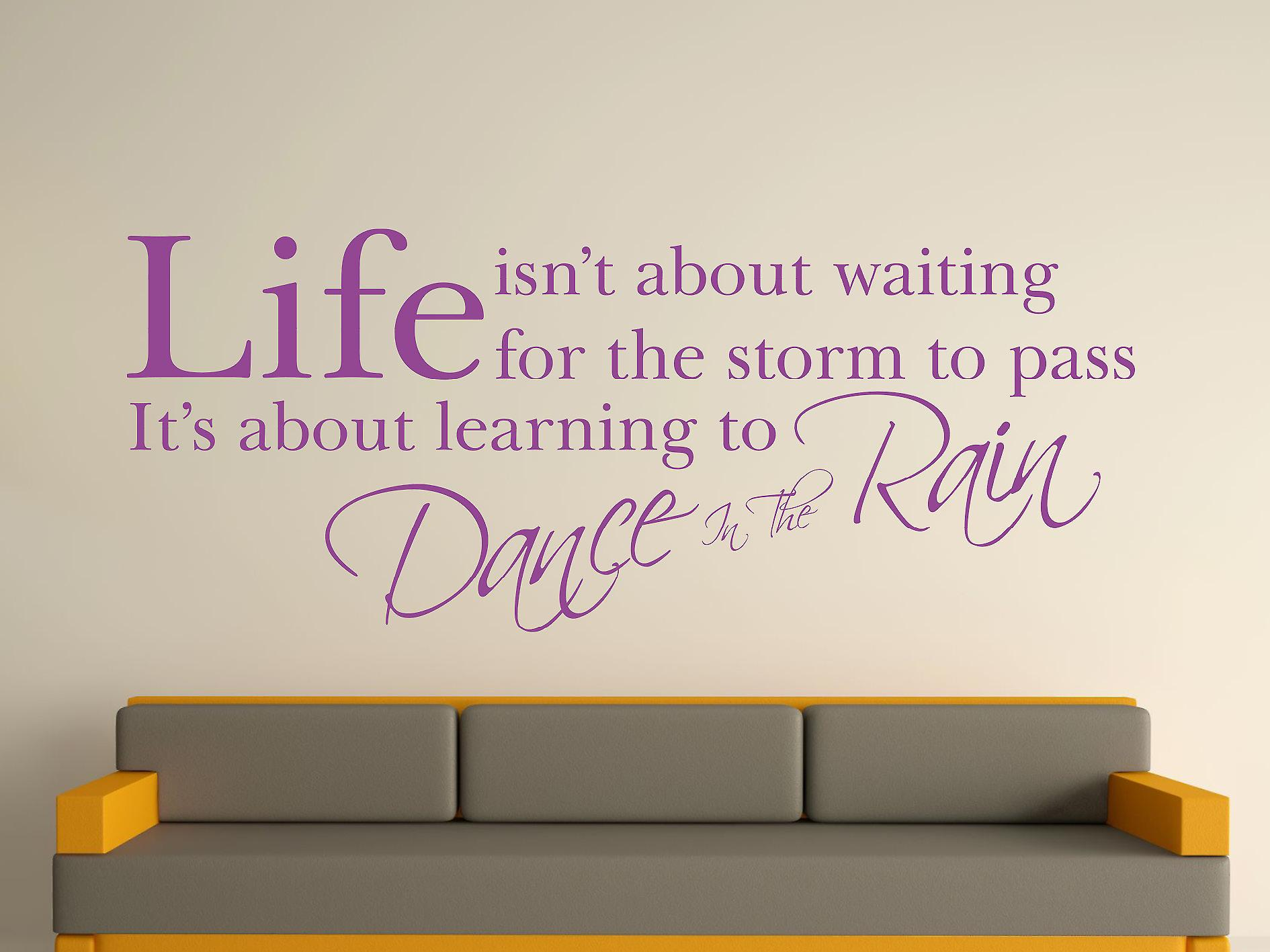 Dance In The Rain Wall Art Sticker - Purple