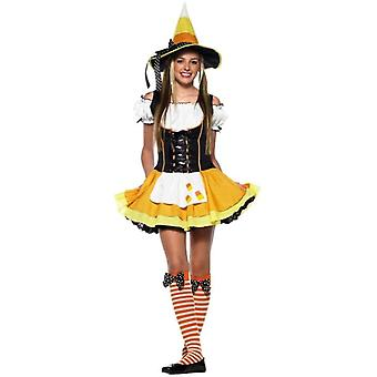 Yellow Corn Witch Teen Costume