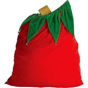 Santa legetøj taske fløjl Bell