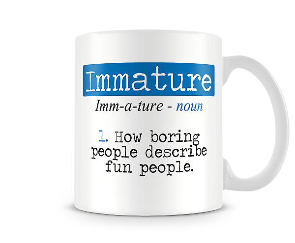 Decorative Writing Immature Printed Mug
