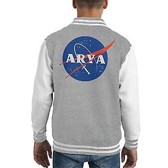 Game Of Thrones Arya Space Logo Kid's Varsity Jacket