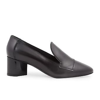 Pierre Hardy Black Leather Loafers