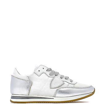 Philippe Model Tropez White Suede Sneakers