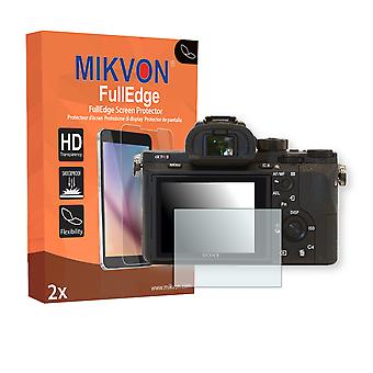 Sony Alpha 7R II screen protector - Mikvon FullEdge (screen protector with full protection and custom fit for the curved display)