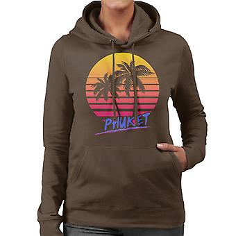 Phuket Retro 80s kvinnor 's Hooded Sweatshirt