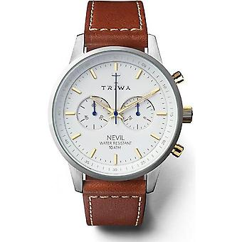 Triwa Snow Nevil NEST115SC - watch brown leather mixed