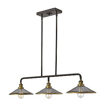 Elstead - 3 Light Island Chandelier - Buckeye Bronze Finish - HK/RIGBY/ISLE KZ