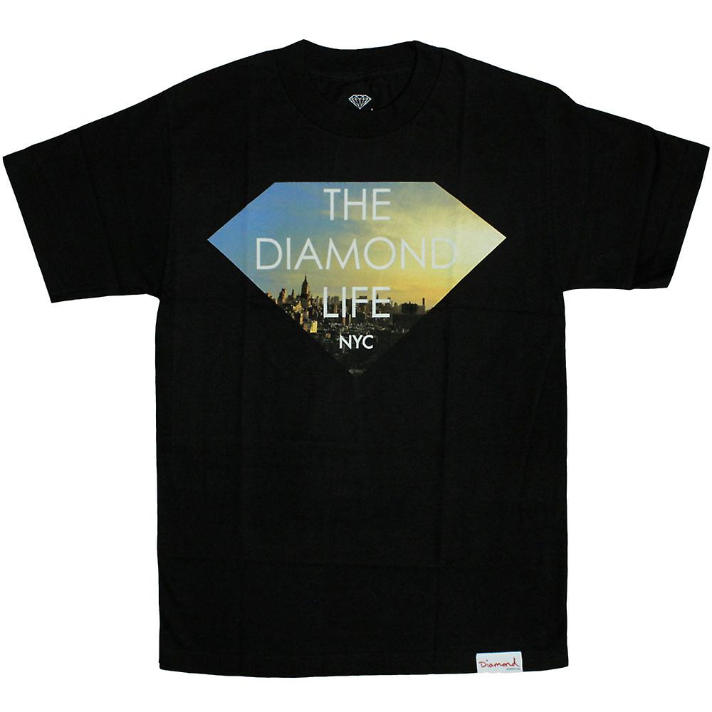 Diamond Supply Co T-shirt New York Diamond Life Noir