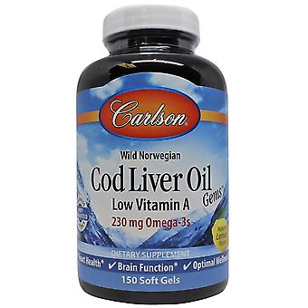 Carlson Labs COD Oil med vitamin A Lemon 150 Perls