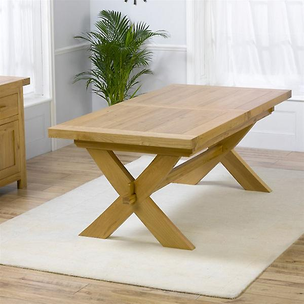 Avignon 2-2.4m Extending Oak Dining Table