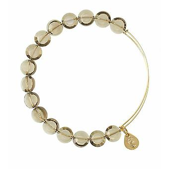 Alex en Ani Smoke luxe kraal goud Bangle BBEB111G