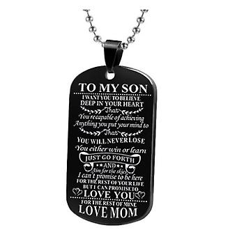 To my son or to my daughter black-plated dog tag necklace dog tag necklace