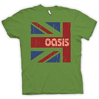 Mens T-shirt - Oasis Union Jack - Rock legends