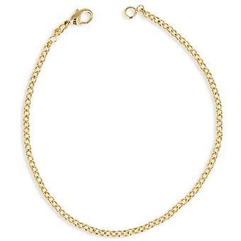 Bracelet Plaqué Or Maille Jaseron 19cm