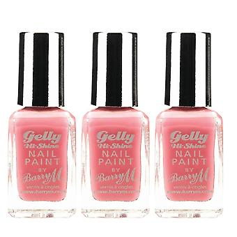 Barry M 3 X Barry M Gelly Hi Shine Nail Paint - Dragon Fruit