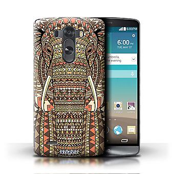 STUFF4 Phone Case / Cover for LG G3/D850/D855 / Elephant-Sepia Design / Aztec Animal Design Collection