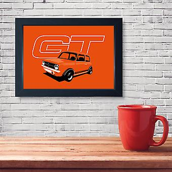 1275 GT Classic Car, Quality Framed Print - Home Decor Kitchen Bathroom Man Cave Wall Art