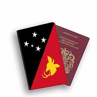PAPUA NEW GUINEA Flag Passport Holder Style Case Cover Protective Wallet Flags design