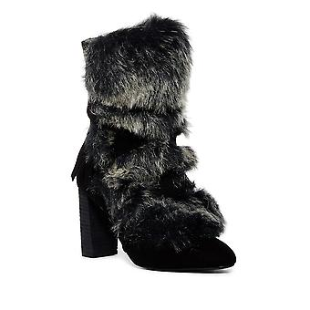 Charles by Charles David Womens Alberta Faux Fur Almond Toe Mid-Calf Fashion ...
