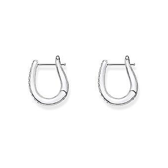 Thomas Sabo Silver Women's Circle Earrings - CR629-051-14