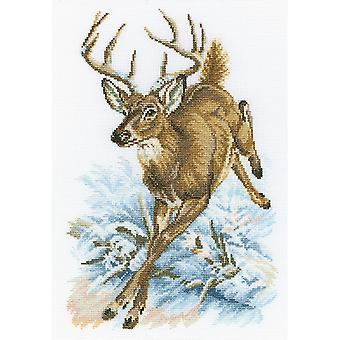 Forest Deer Counted Cross Stitch Kit-8.75