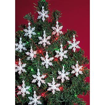 Holiday Beaded Ornament Kit Mini Snowflakes 2