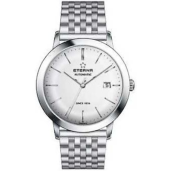 Eterna Mens Eternity Automatic Brushed Silver Dial Steel Strap 2700.41.10.1736 Watch