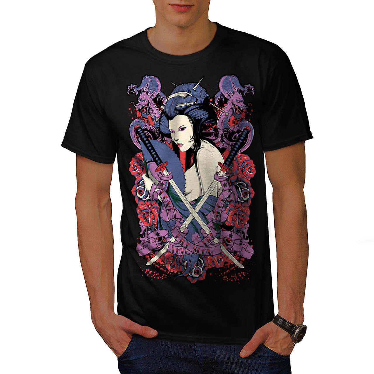 Love Will Kill fille chinoise lente hommes T-shirt noir | Wellcoda