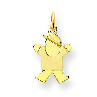 14k Gold Mini Children Boy Charm - .8 Grams