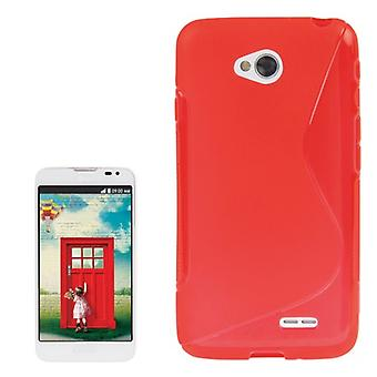 Mobile Shell S line TPU case voor LG L70 / dual D325 rood