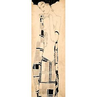 Standing Girl Poster Print by Egon Schiele