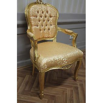 Antique dining chair, baroque, blow gilded MkCh0082