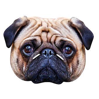 PUG hund animalske enkelt kort Party ansigtsmaske