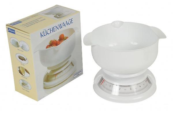 Cuisine Elegance Kitchen Scale White Max. 5Kg With Bowl Easy-to-read Dial