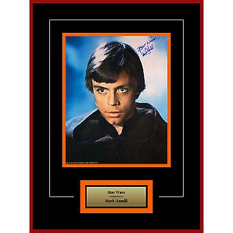 Star Wars - signiertes Mark Hamill Luke Skywalker Film Photo - Artist-Serie gerahmt