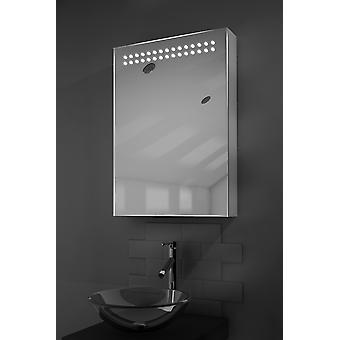 Vania LED Illuminated Mirror Cabinet With Sensor & Shaver k263