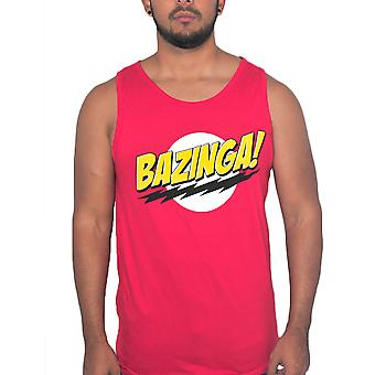 The Big Bang Theory Bazinga! Men's Red Tank Top