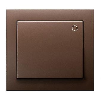 Big Button Reactive Push Release Door Bell Switch Plate Various Colours