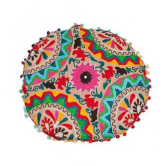 Boutique Camping Multicoloured Embroidered Floor Cushion