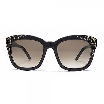 Chloe Suzanna Studded Square Sunglasses In Black