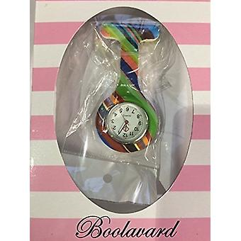Brand New Fashion Silicone Nurses Brooch Tunic Fob Watch by Boolavard TM. (8 - Light Rose Red)