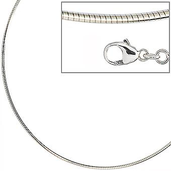 Choker necklace silver necklace 925 sterling silver rhodium plated 1,5 mm 50 cm lobster clasp